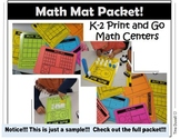 Math Mats for K-2 Stations (FREE Sample)