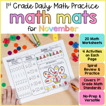 November Math Review Worksheets For First Grade By Proud To Be Primary