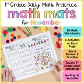 Math Review Worksheets for November | First Grade  | Googl