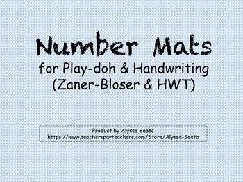 Math Mats for Numbers 1-10 (Play-doh & Handwriting)