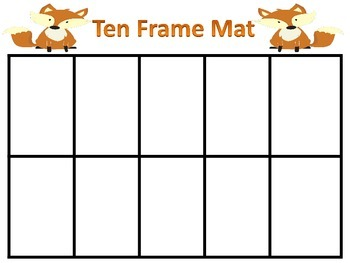 Math Mats for Place Value and Ten Frames- Fox Theme