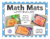 Math Mats for addition, subtraction, place value, time, 10