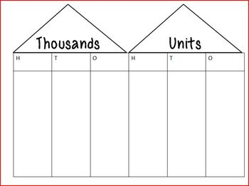 Math Mats for teaching Place Value