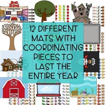 Year Long Math Center Bundle - Addition, Subtraction, Counting, & more!
