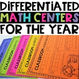 Year Long Math Center Bundle - Addition, Subtraction, Coun
