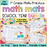 Math Review Worksheets Bundle   First Grade    Google Read
