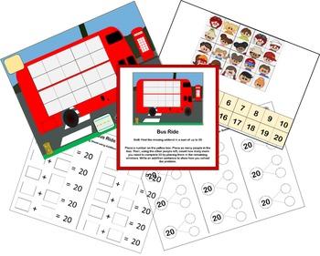 Math Centers for Kindergarten using thinking mats.
