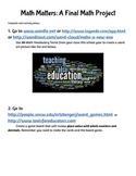 Math Matters - A Final Project in Math Application