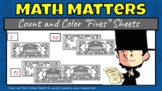 """Math Matters - Count and Color """"Fives"""" Worksheets"""
