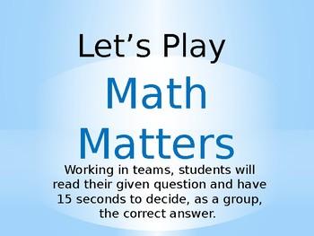 Math Matters: Normal Distribution