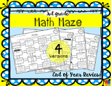 Math Maze - 3rd Grade Summer / End of Year Review