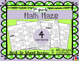 Math Maze - 5th Grade Back to School