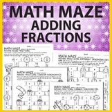 Math Maze: Adding Fractions