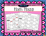 Math Maze FREEBIE - Comparing Fractions