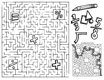 Math Maze Fun Worksheet - Free