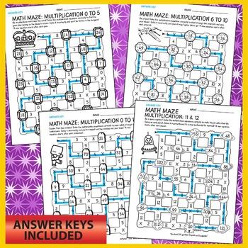 Math Maze Multiplication