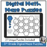 Math Maze Digital Puzzle Reviews 5th Grade Math Station