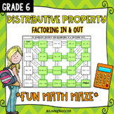 Math Maze: The Distributive Property (Distributing IN and