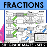 Math Mazes - Add, Subtract, Multiply and Divide Fractions