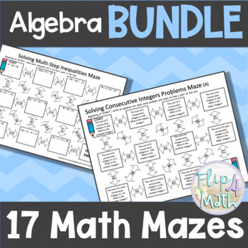 Math Mazes BUNDLE