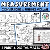 Math Mazes - Converting Measurements, Measuring Volume - D