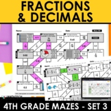 Math Mazes - Fractions and Decimals Practice - Digital Included