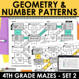 Math Mazes - Geometry, Number Patterns, Lines of Symmetry