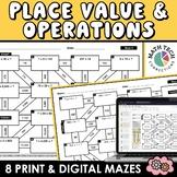 Math Mazes - Place Value, Multiplication & Division Practi