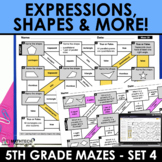 Math Mazes - Order of Operations, Interpret Expressions, S
