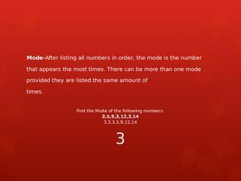 Math Mean Median Mode Range