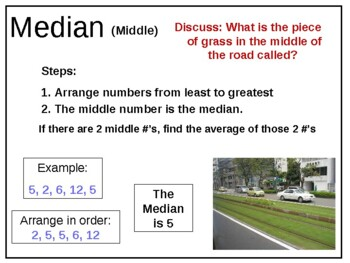 math mean median mode range mmmr powerpoint data graph common core