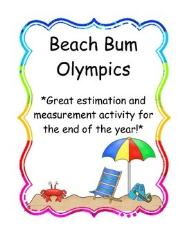 "Math Measurement Activities - ""Beach Bum Olympics"""