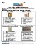 Math Measurement Choice Board K-2
