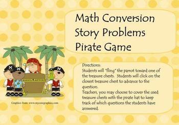 Measurement Conversion Pirate Game for Smart Board