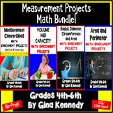 Measurement Projects BUNDLE, Area, Radius, Volume, Conversions and More