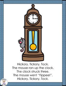 Time (clocks) - Hickory Tickory Tock (Nursery Rhyme)
