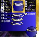 Math Measurement - Smartboard Trivia Game -Time Money & Temperature