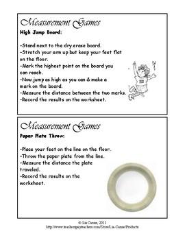 Math Measurement Task Cards/Games