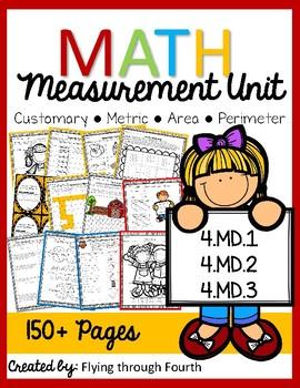 Math Measurement Unit {Third/Fourth/Fifth} 4.MD.1 4.MD.2 4.MD.3