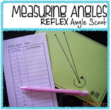 Math Measuring REFLEX Angles Scoot