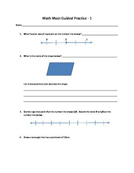Math Meet 1 Guided Practice
