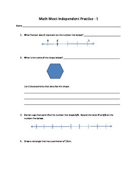 Math Meet 1 Independent Practice