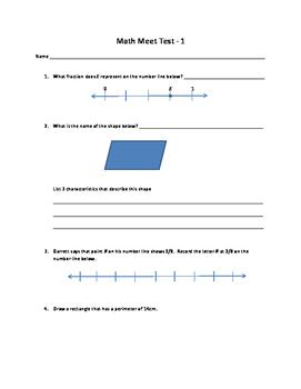 Math Meet 1 Test