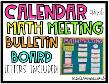 Math Meeting & Calendar Bulletin Board