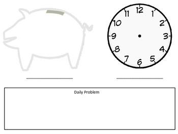 FREE Math Meeting Calendar Worksheet