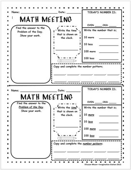 Math Meeting Form