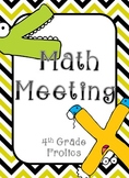 Math Meeting Headers - Black/Yellow Theme