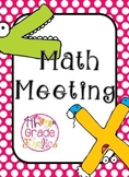 Math Meeting Headers - Pink, Turquoise, & Lime Theme