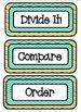 Math Meeting - Headers - Orange/Yellow/Turquoise Theme