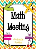 Math Meeting - Headers - Orange/Yellow/Turquoise Theme